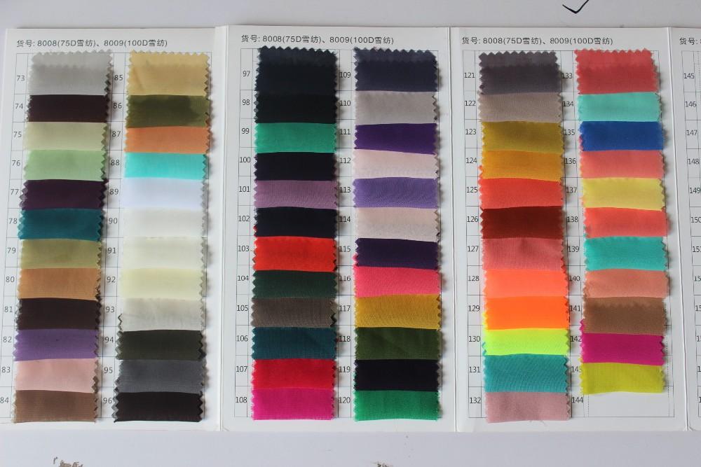 Chiffon Color Chart 2