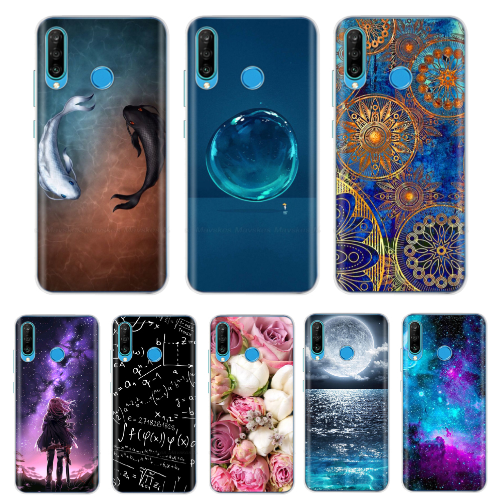 Silicone Phone Case For Huawei P30 Pro VOG-L29 ELE-L29 P30 Lite Case Soft TPU Back Cover On Huawei P30 P30Pro Bumper Fundas