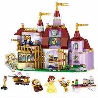 Beauty And The Beast Princess Belle S Enchanted Castle Model Building Blocks Enlighten Figure Toys For