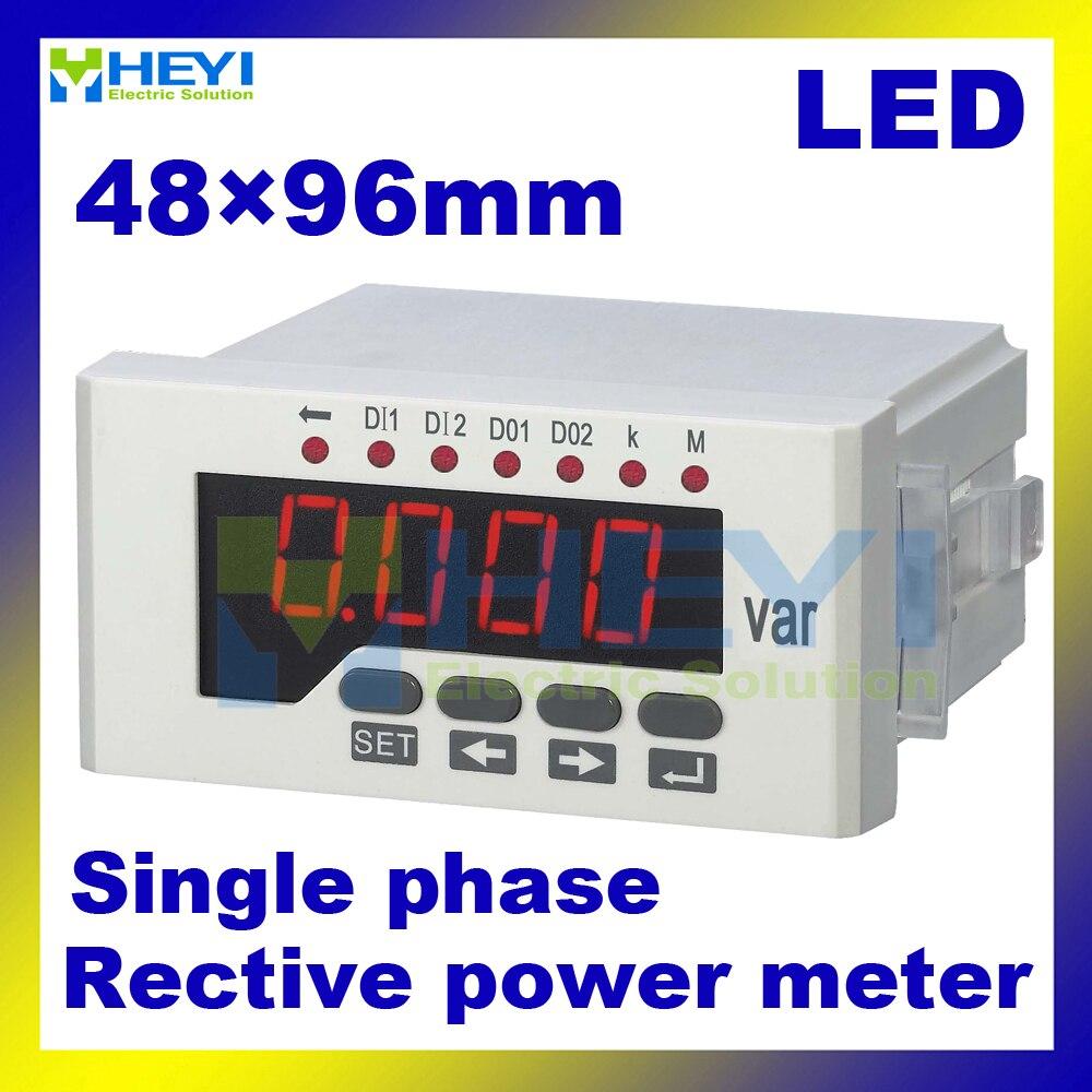 ФОТО Reactive power meter 80*160/60*120/48*96 mm single phase digital power meters