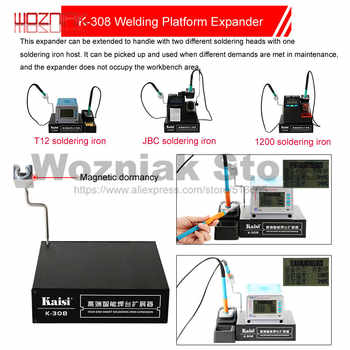 KAISI K-308 Soldering Iron Head Extension Platform Handle Extension Box T12 UD1200 JBC Extended Dual Position Work Welding - DISCOUNT ITEM  0% OFF All Category