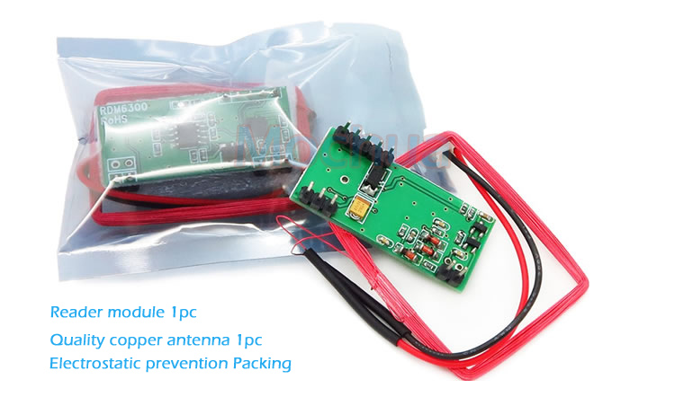 125KHz RFID card reader RDM6300 RF module 125kHz card reader UART serial port output id card 125khz rfid reader
