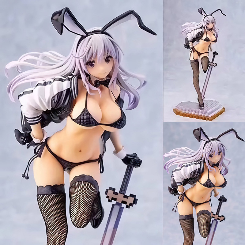 28cm Skytube Girls Zimakupiza by Saitom Rabbit Ears Anime <font><b>Sexy</b></font> Girls PVC <font><b>Action</b></font> <font><b>Figure</b></font> Collectible Model <font><b>Toys</b></font> For Gift image