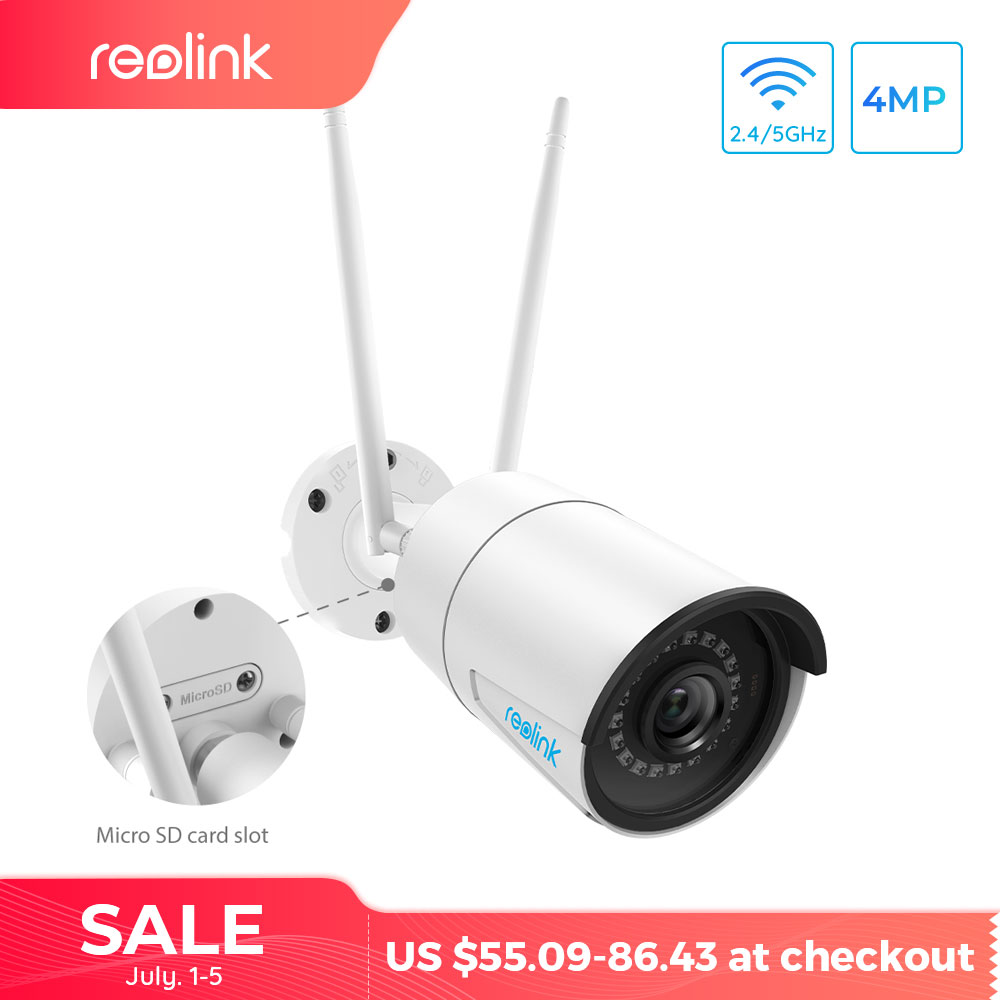 Reolink WiFi Camera w SD Card HD 4MP IP Video Audio Surveillance Outdoor Security CCTV Wireless Cam RLC410WS mejores fotos hechas en photoshop