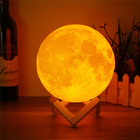 8 10 12 15 18 20cm Dimmable 3D Moon Lamp USB LED Night Light Moonlight Touch