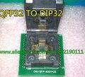 Frete grátis Universal programador LQFP32 TQFP32 QFP32 PARA DIP32 soquete adaptador suporte ATMEGA8 AVR STM32 STC RT809F TOP3000