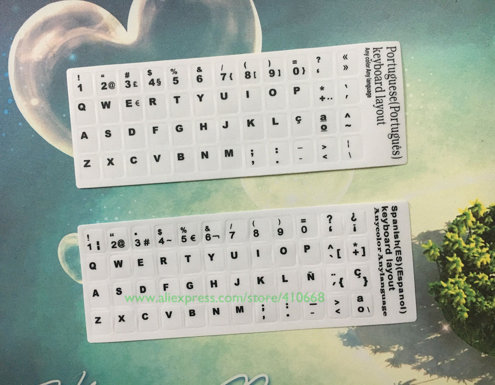 e95490311b4 2 PCS Label 10 13 15 17 inch White Russian English Arabic Spanish Thai  Italian German