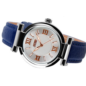Image 2 - 2020 skmei 9075女性の腕時計防水レザーストラップファッションクォーツ時計の高級ブランド腕時計レロジオfeminino xfcs