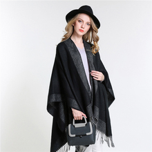 [SUMEIKE] 2017 New Spring Women Oversized Knitted Cashmere Poncho Capes Duplex Winter Shawl Cardigans Sweater Coat for