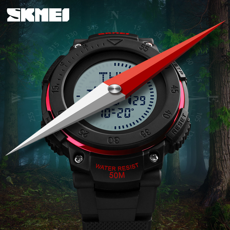 Digital Watches Dutiful Men Sports Watches Digital Compass Wristwatches Outdoor Countdown Chrono Military Army Mens Watch Waterproof Reloj Hombre Skmei Moderate Cost Men's Watches