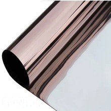40*700cm Brown Silver One Way Solar Mirror Window Film Tint Glass Stickers Reflective Privacy Home Decorative Film For Building film tint solar gold silver mirror effect for window building vlt 15% 1 52mx30m 5ftx100ft