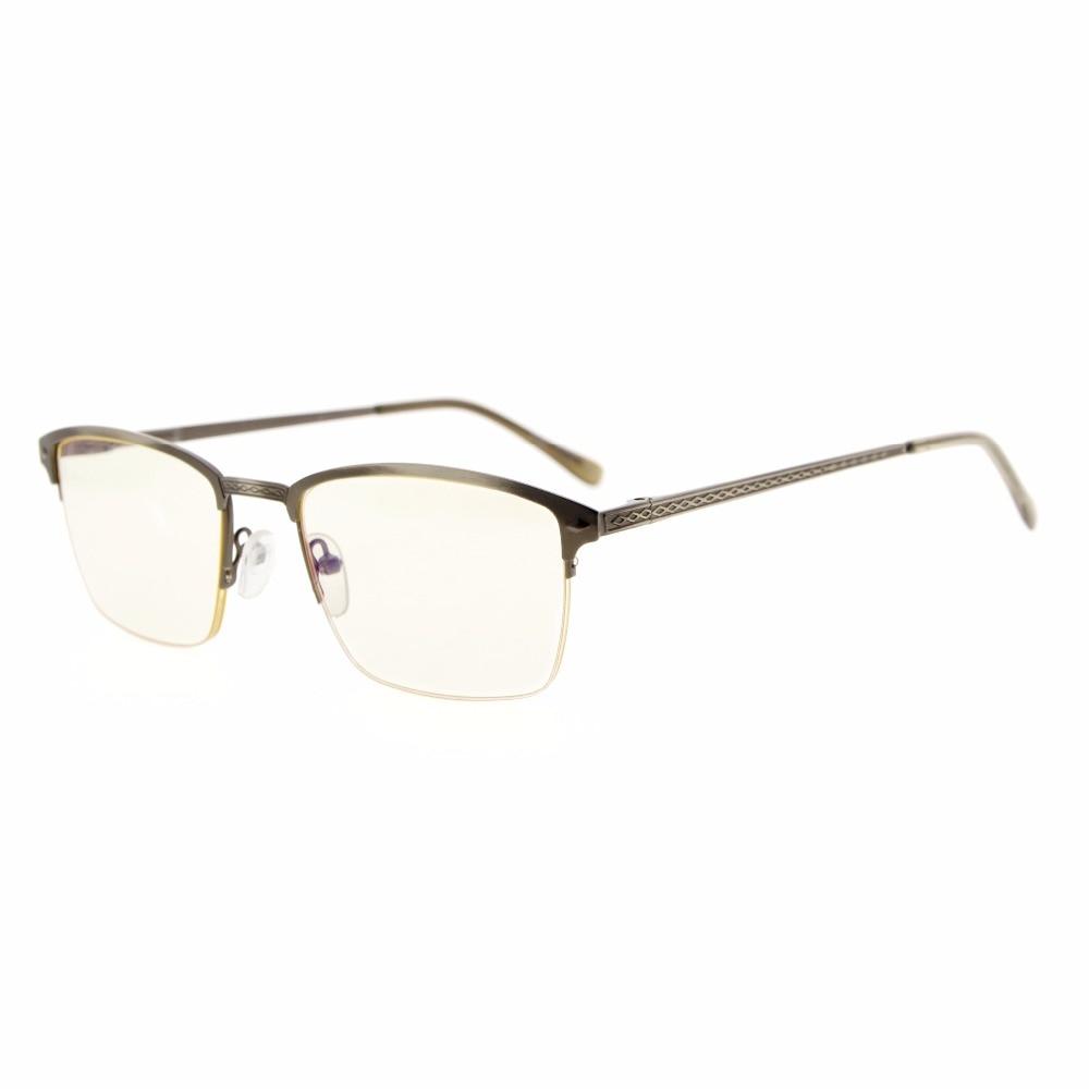 d4402ed92287a6 Cg15046 eyekepper qualité printemps charnières en métal brossé cadre ordinateur  lunettes de lecture informatiques gratuites lunettes rx-en mesure