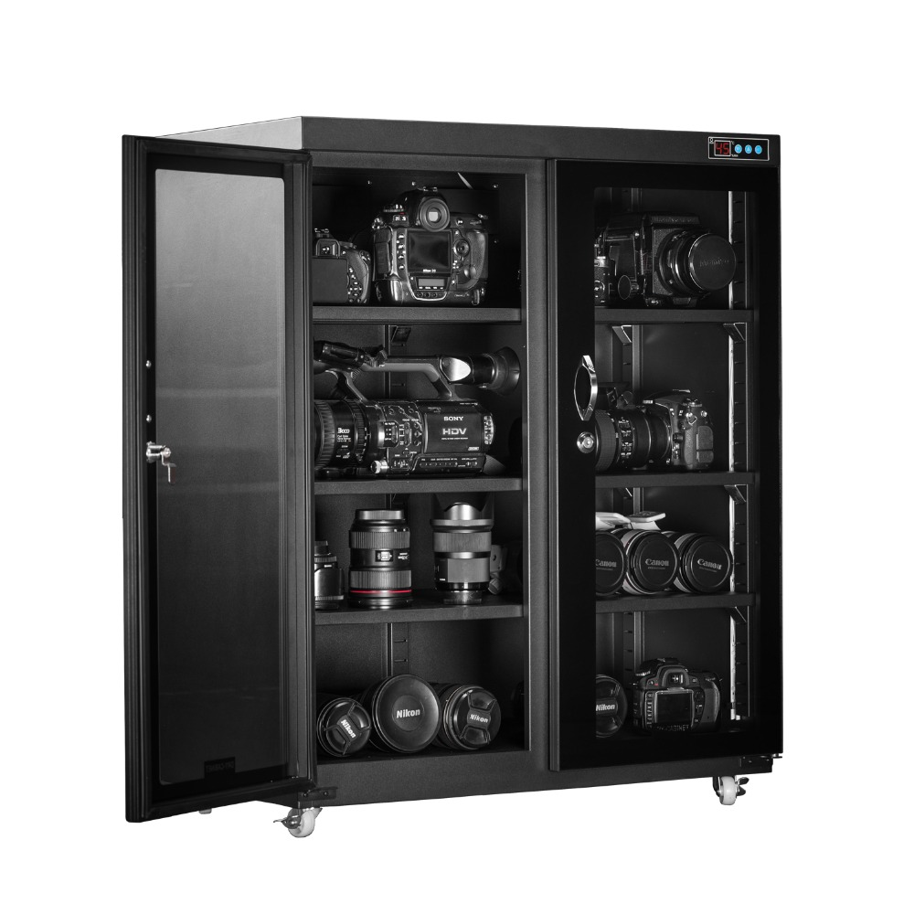 High Quality Horizontal Type Dry Box Electronic Dry Cabinet With Super Capacity Automatic Moisture-proof Box 260 Liter