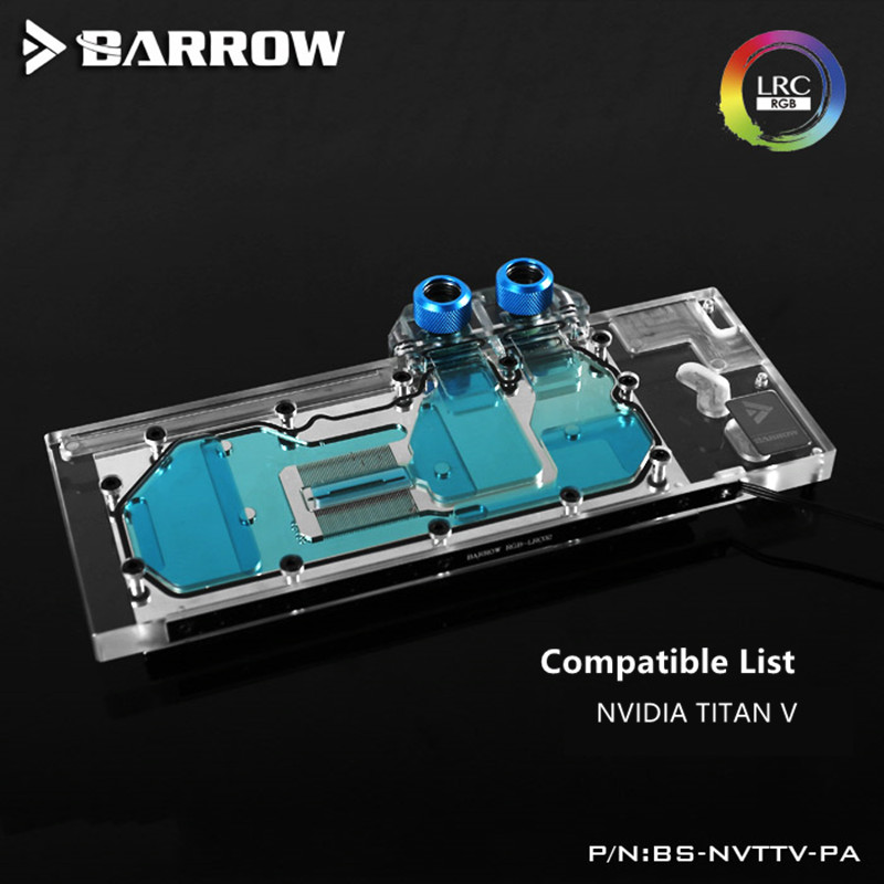 Barrow Public version <font><b>NVIDIA</b></font> TITAN V GPU Water Block Full Coverage BS-NVTTV-PA image