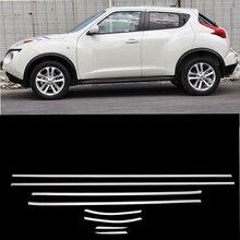 8 шт. SUS304 нержавеющая сталь оконная формовочная отделка автомобиля Стайлинг крышка аксессуары для Nissan Juke 2010