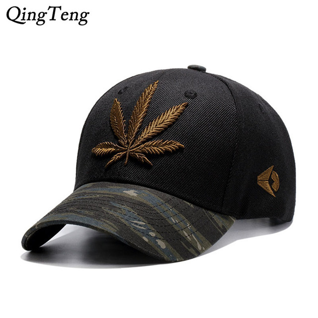 e94c5f69a50 Camouflage Mens Baseball Caps Brand Engravings Weed Snapback Hats For Women  Swag Hip Hop Casquette Casual Outdoor Sport Bone