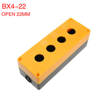 4 hole button box control box 22mm bx4-22 emergency stop button box button box.