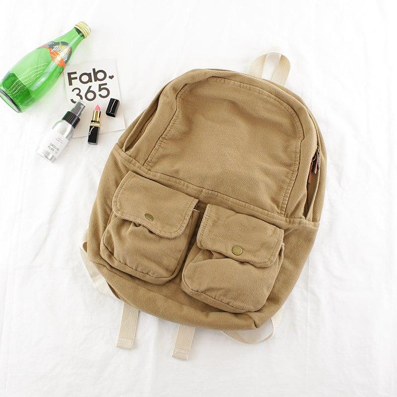 8796e6d0e9a1 Модный винтажный женский рюкзак из джинсовой ткани с двойными карманами, женский  рюкзак для отдыха,