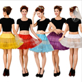Colored Short Soft Tulle Petticoats For Women Tutu Skirts Wedding Accessories Petticoats Length 40cm Waist 60-100cm Underskirt