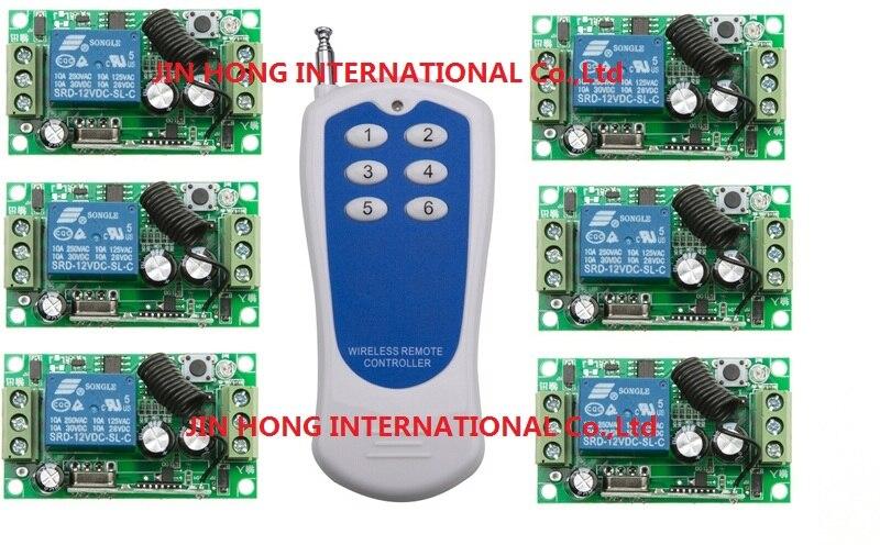 DC12V 1CH RF interrupteur à bascule livolo commutateur système de radio maison intelligente 315/433 mhz rf levage 6 * récepteur et 1 * émetteurs