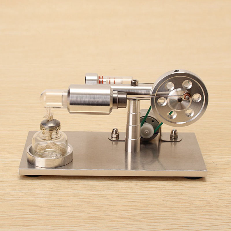 Nova Atualização de Liga de Alumínio Modelo De Motor Stirling de Ar quente Gerador Modelo Educacional Ciência Toy Presente Para Crianças Miúdo