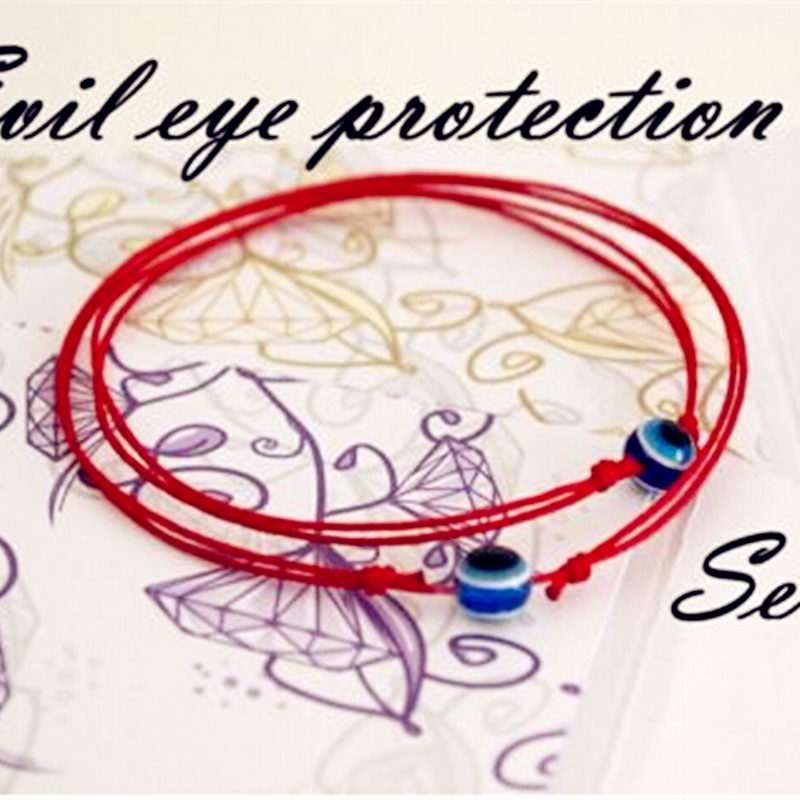 BRS004 Red String Blue Evil Eye Simple Cheap Bracelet Fashion Kabbalah bangle&wristband For Women Baby Child Set of Two 2