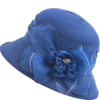 High Quality Spring Organdy Bucket Hat For Women French Ladies Summer Flower Sun Hat Foldable Beach Travel Summer Cap Hat