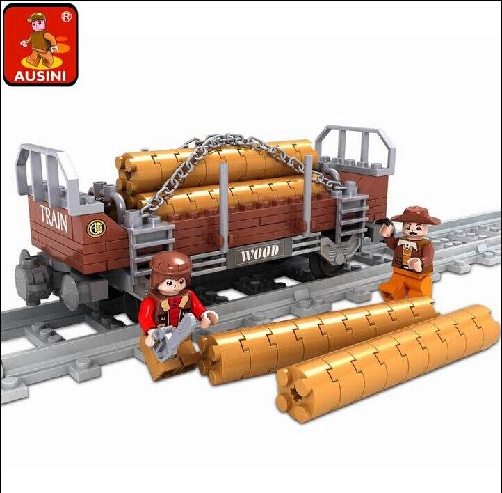 Model building kits compatible with lego city train rail 150 pcs 3D blocks Educational model building toys hobbies for children