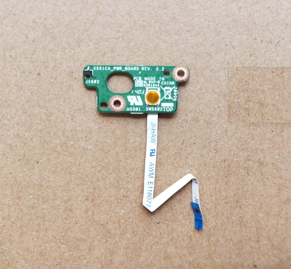 WZSM New Power Switch ON OFF Button Board for ASUS X551 X551MA X551C X551CA