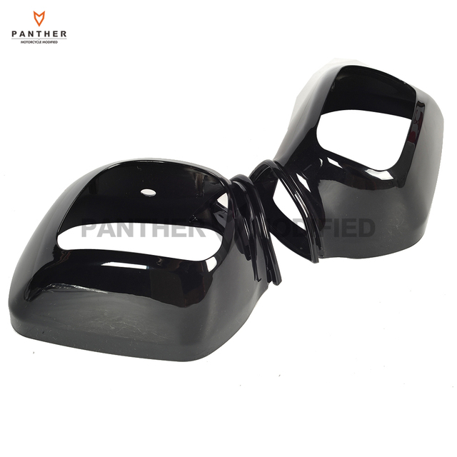 Black Motorcycle Rear View Side Mirrors Cover Moto Mirror Shell Case For Honda Goldwing Gl1800 Gl