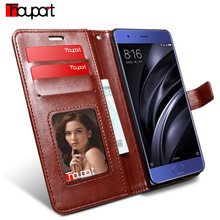 Thouport For Xiaomi Mi 6 Case Xiaomi Mi6 Case Card Holder Standing Cover Retro Flip Wallet Leather Case For Xiaomi Sagit Mi6(China)