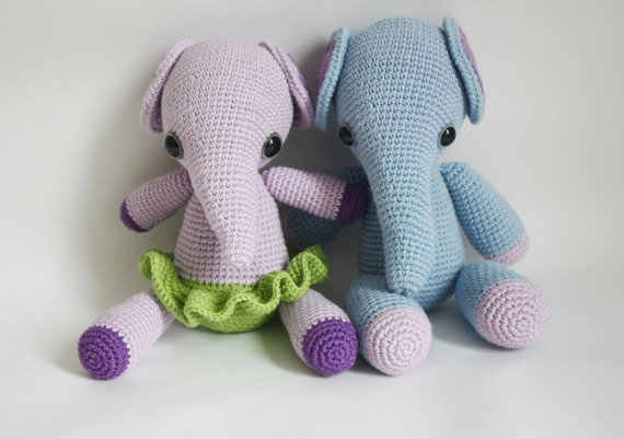 Crochet Impossible - Amigurumi Elephant PART 1 (LEFTIE) - YouTube | 401x570