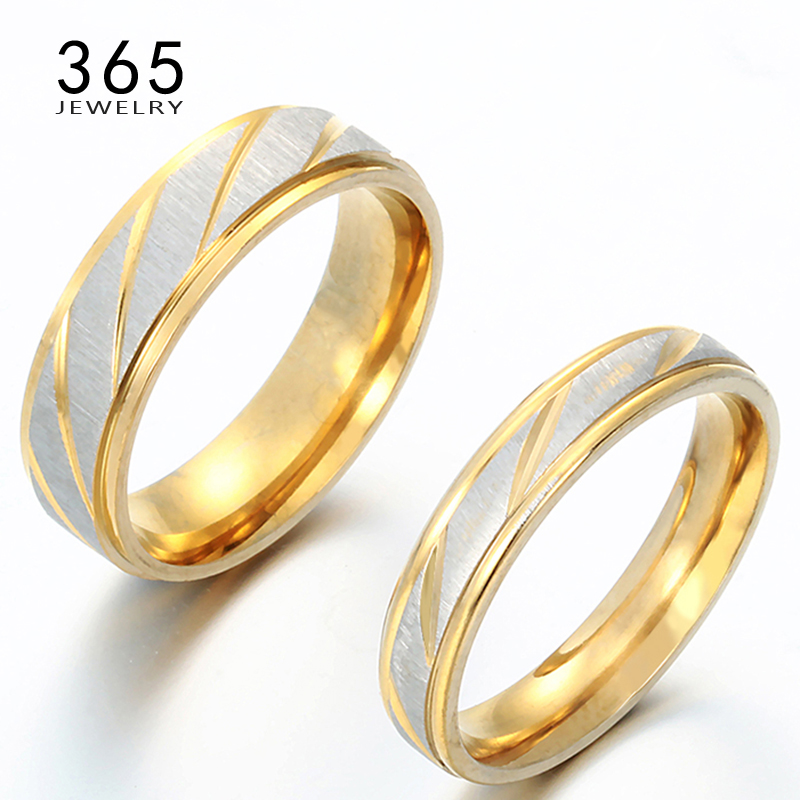 Luxury Jewelry Gold Friendship Korean Stainless Steel Love Rings - Fashion Jewelry - Photo 1
