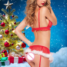 Christmas Best Gift Sexy Lingerie For Women Erotic Underwear Red White One Size
