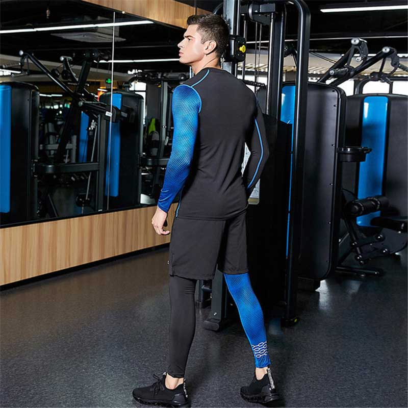 3 Piece Men Quick Dry Compression Long Johns Fitness Gymming Male Winter Sporting Runs Workout Thermal Underwear Sets S206 Sports & Entertainment