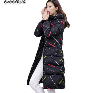 88ef1b41d08 BVOCYRNG Hooded Winter Coat Female Warm Womens Long Parka