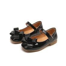dac102e90 Весна осень дети девушка Яркая обувь из искусственной кожи с бантом для  девочек обувь на плоской подошве туфли принцессы 26-36 ч.