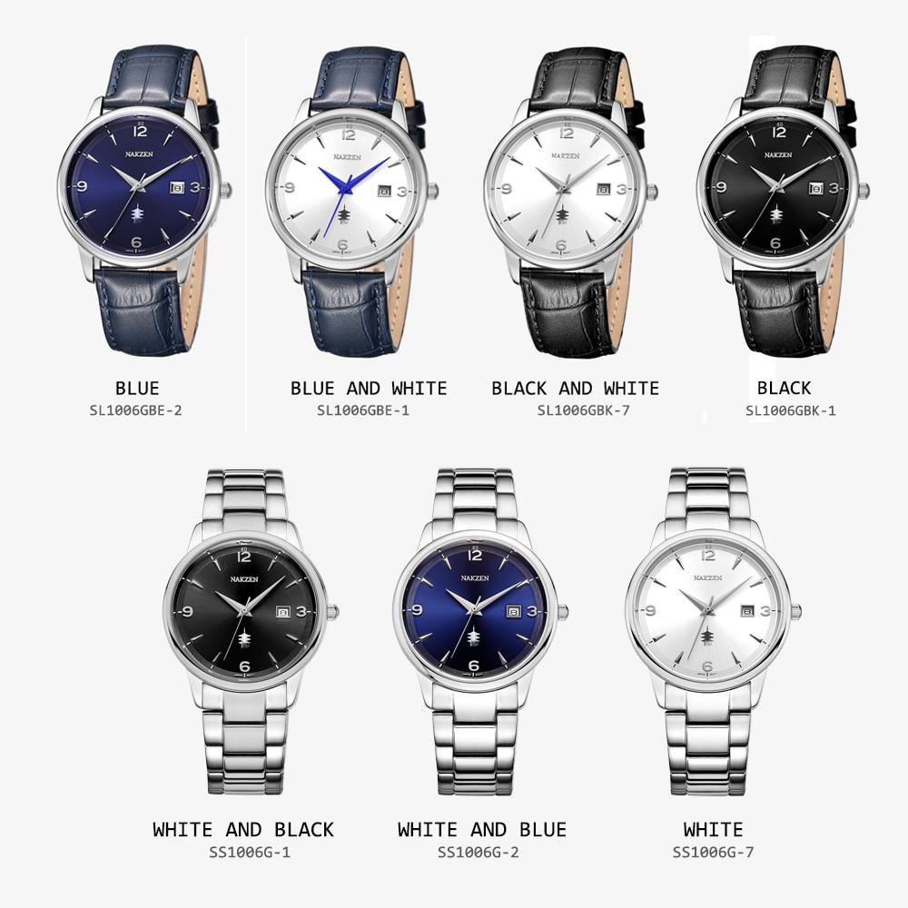 NAKSEN Classic Armbandsur Märke Luxury Quartz Män Klockor - Herrklockor - Foto 6