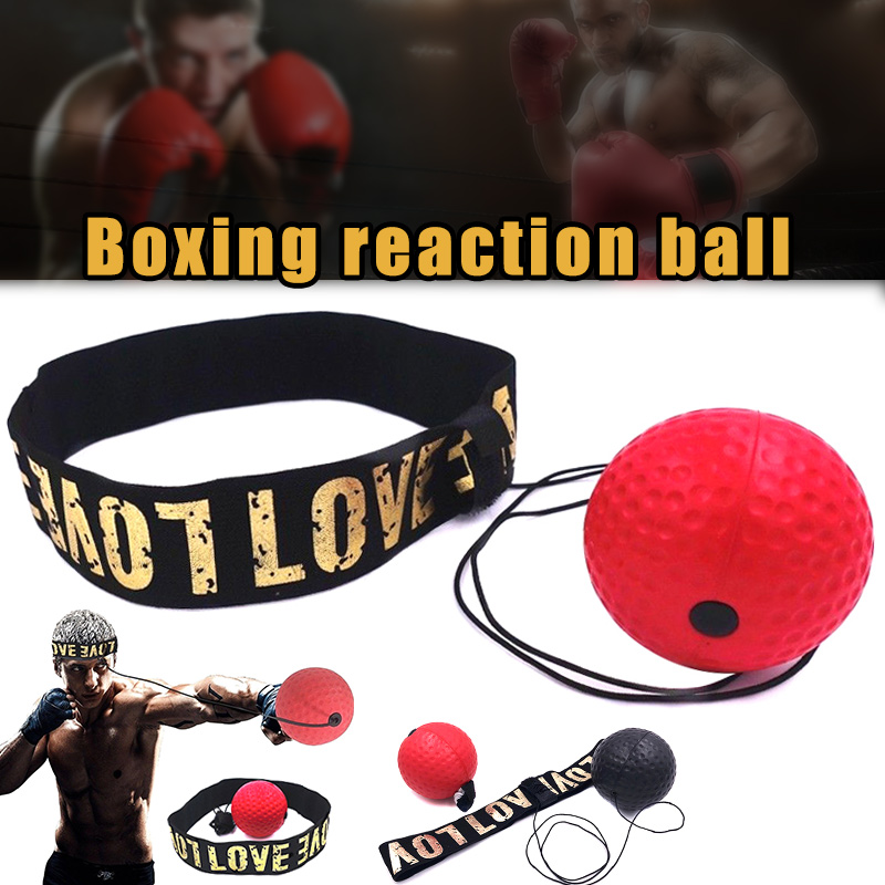 Hand Eye Training Speed Head-Mounted Boxing Reaction Ball Raising Reaction Force