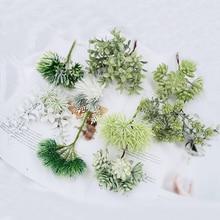 6 шт., искусственные растения для дома, свадебные украшения, свадебные аксессуары, Оформление, искусственные флористики, ручная работа, Рождественская гирлянда