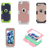 LD New Case For Coque IPod Touch 5 Shockproof Hybrid Layer PC Silicone Combo Cover Case