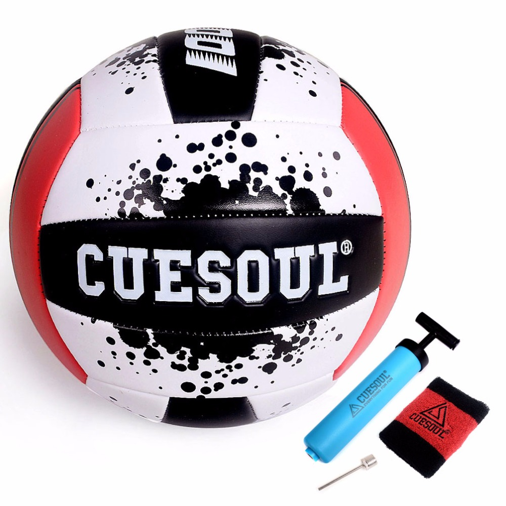 CUESOUL Red/Yellow Soft Play Volleyball, Standard #5 Sized Volleyball