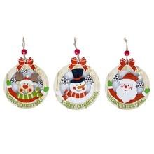 3D Creative Christmas Wooden Pendants Ornaments DIY Star&Heart Christmas Party Decorations Xmas Tree Ornaments Kids Gift 1Pcs