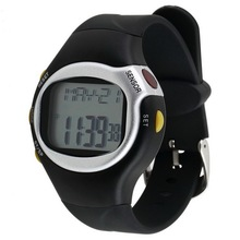 цена на Black Color Pulse Heart Rate Monitor Calorie Counter Stop Watch Calorie Counter Exercise Touch Sensor 6 In 1