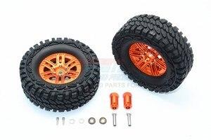 Image 1 - TRX TRX 4 TRX4 82056 4 Алюминиевый сплав 6 полюсные колеса и гусеничная шина + 21 мм шестигранный адаптер набор TRX4689/21 мм