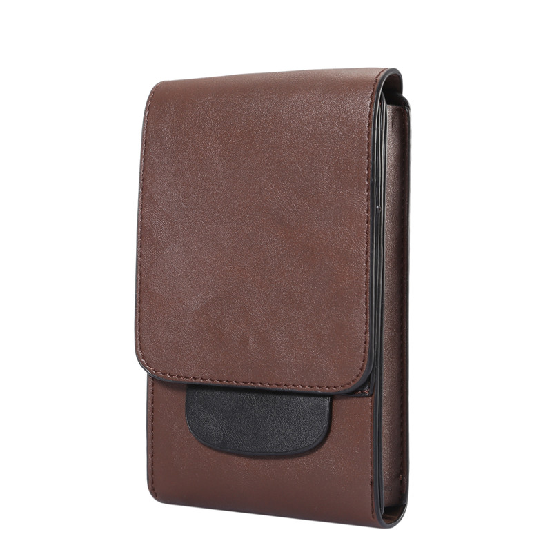 Men Leather Waist Pouch Bag Cell Phone Case Wallet Skin Belt Purse Pocket Pack