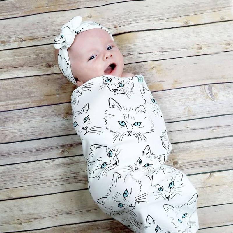 Verscheidenheid Bedrukking Babyslaapzak + haar met 2 sets katoenen - Beddegoed - Foto 5
