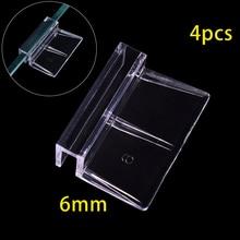 4 шт. акриловый аквариум ручка для крышки рыбы накладки на унитаз крышку кронштейн зажим Опора с зажимом