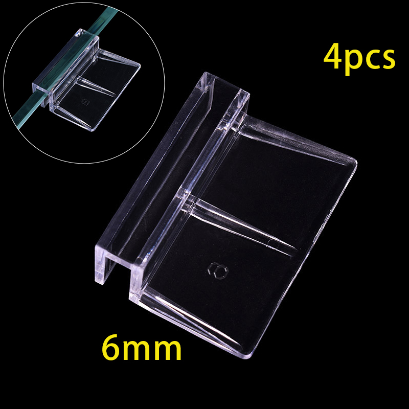 4pcs Acrylic Aquarium Lid Holder Fish Tank Lid Cover Bracket Clip Clamp Support