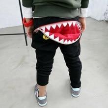 6e7673355 Autumn New shark Baby pants girls boys casual Mouth teeth cotton harem pants  cartoon pattern Toddler